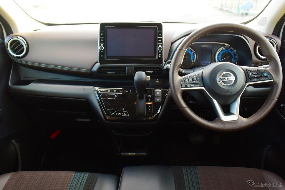 普通車デザインに近いコクピット。ステアリングスイッチも豊富で、運転支援システムプロパイロットをはじめドライブ中の大半の操作がステアリングに手を置いたまま可能。《写真撮影  井元康一郎》