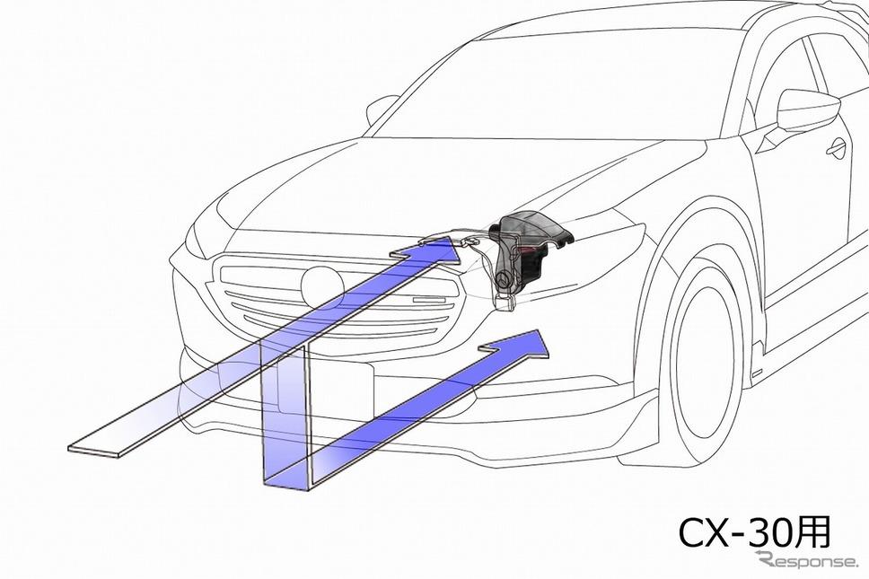 ラムエアインテークシステム(CX-30用)《写真提供 オートエクゼ》