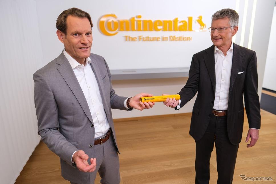 コンチネンタルの次期CEO、ニコライ・セッツァ氏とエルマー・デゲンハート現CEO《photo by Continental》
