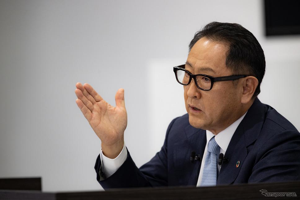 日本自動車工業会の豊田会長《写真提供 トヨタ自動車》