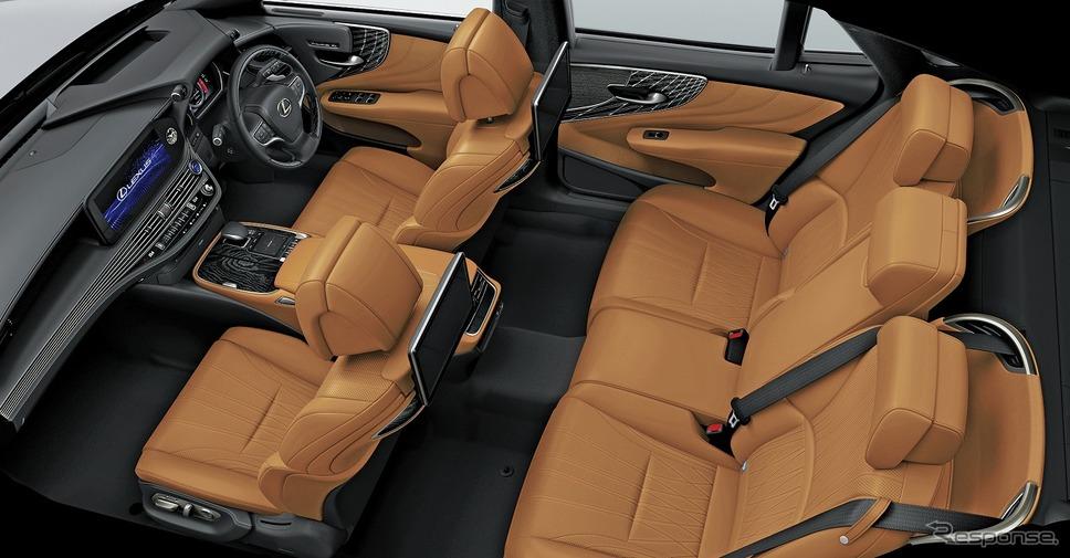 レクサス LS500h エグゼクティブ(インテリアカラー:オーカー)《写真提供 トヨタ自動車》