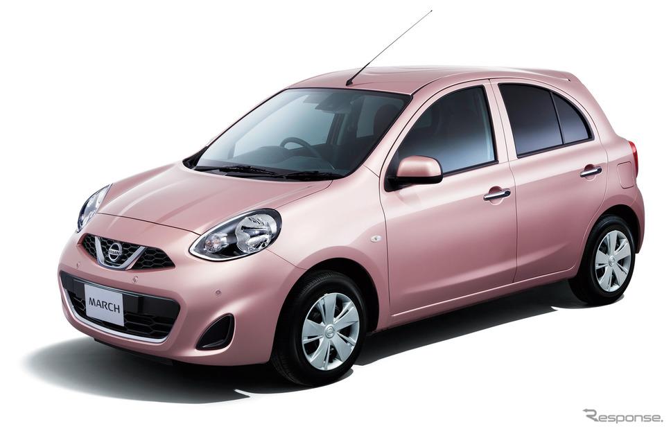 日本市場向け日産マーチ現行は、欧州向けマイクラ先代にあたるが、モデルチェンジしていない。《写真提供 日産自動車》