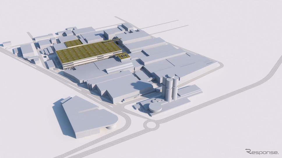 BMWグループのドイツ・ミュンヘン本社工場に新設されるEV組み立て工場の完成予想図《photo by BMW》