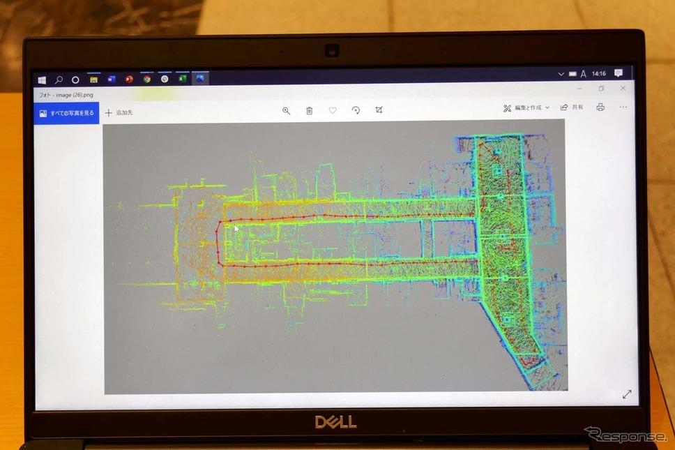 パトロが自律走行するのに3D高精度マップが採用されている《写真撮影 会田肇》