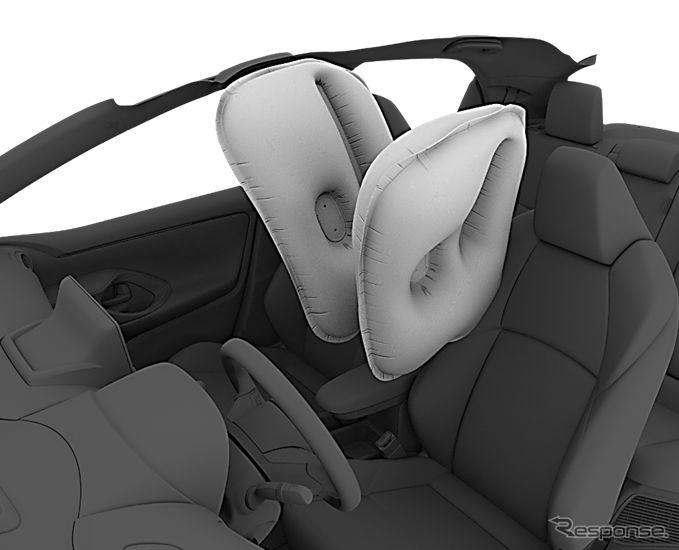 トヨタ・ヤリス・ハイブリッド 新型(欧州仕様)のセンターエアバッグ《photo by Toyota》