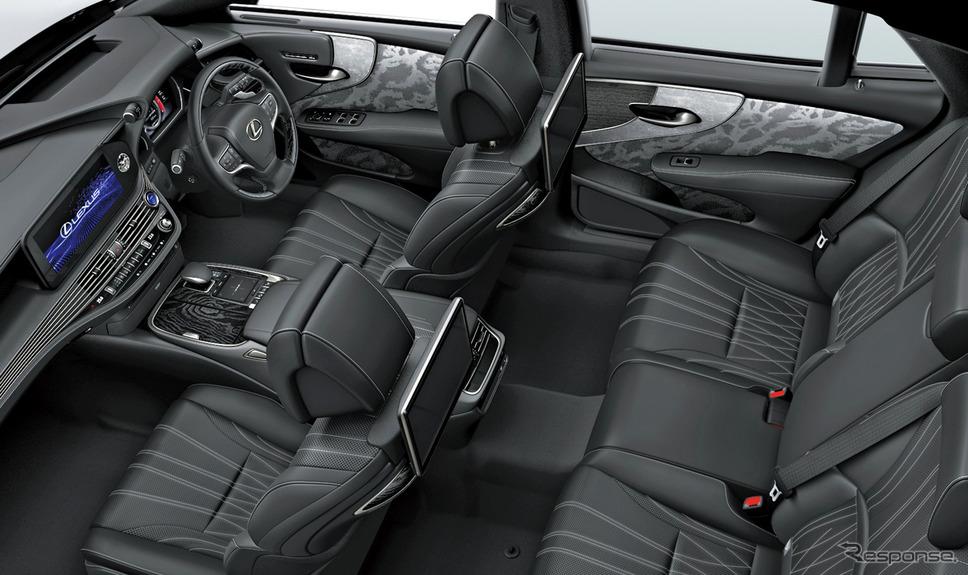 """LS500h""""EXECUTIVE""""(インテリアカラー : ブラック)<オプション装着車>《写真提供 トヨタ自動車》"""