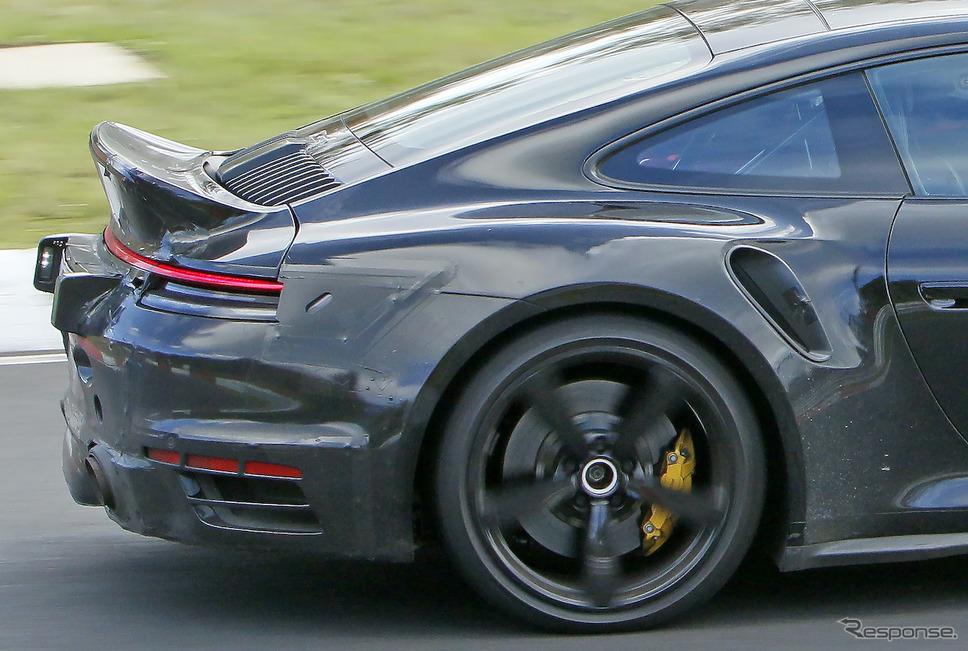 ポルシェ 911ターボ 謎のプロトタイプ(スクープ写真)《APOLLO NEWS SERVICE》