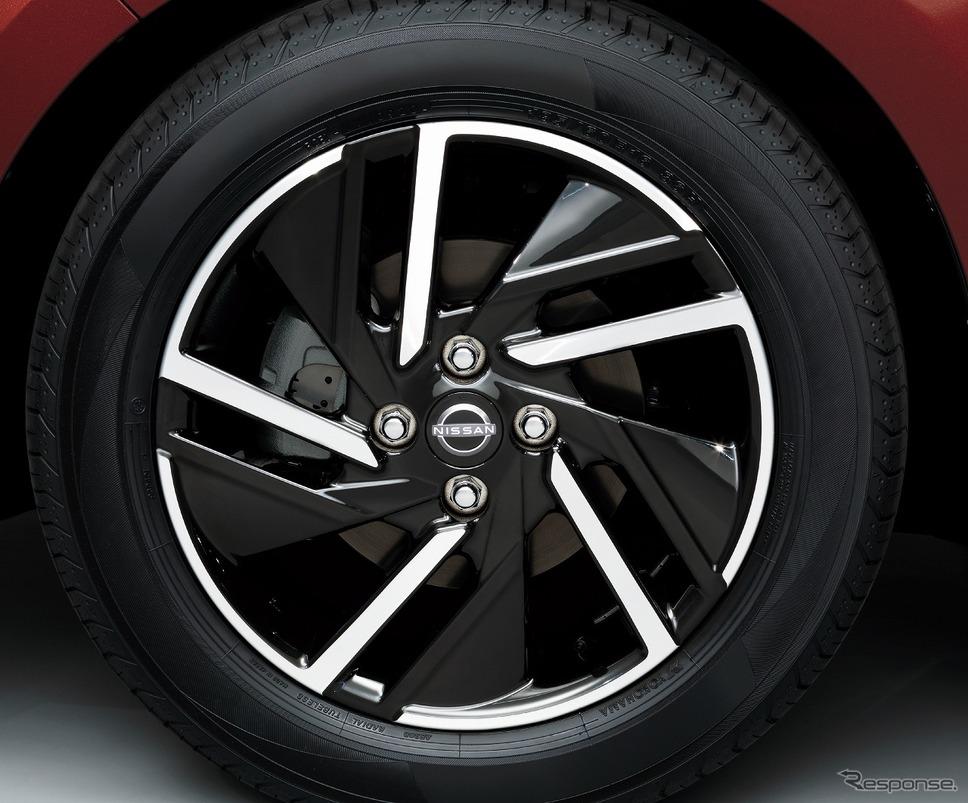 タイヤ&ホイール 16インチアルミホイール X《写真提供 日産自動車》