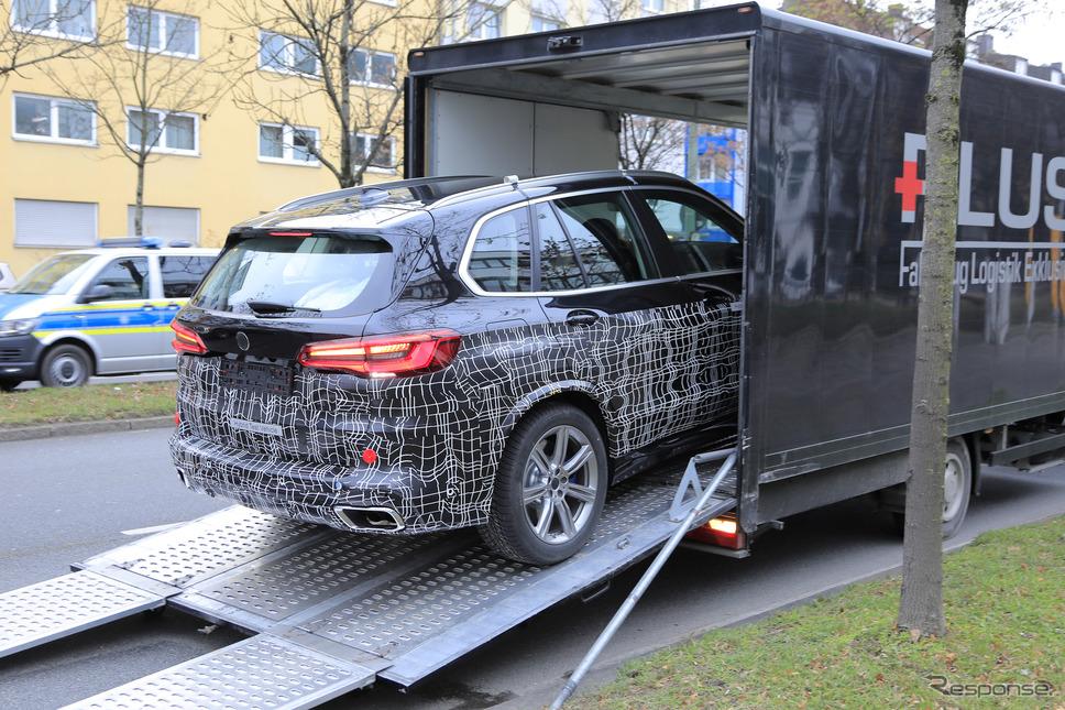 BMW X5 改良新型プロトタイプ(スクープ写真)《APOLLO NEWS SERVICE》
