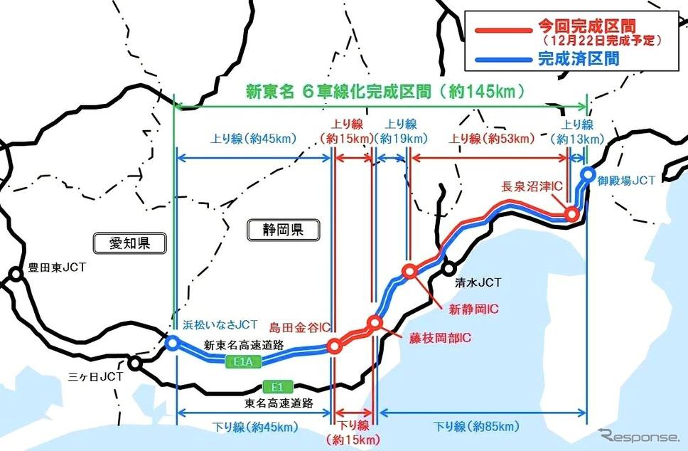 新東名6車線化事業《図版提供 中日本高速道路》