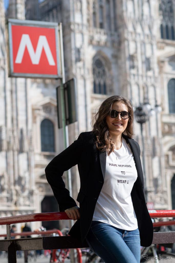 T. カルデロン(2019年ミラノ・ファッションウイーク)《Photo by Tullio M. Puglia/Getty Images for Safilo/ゲッティイメージズ》