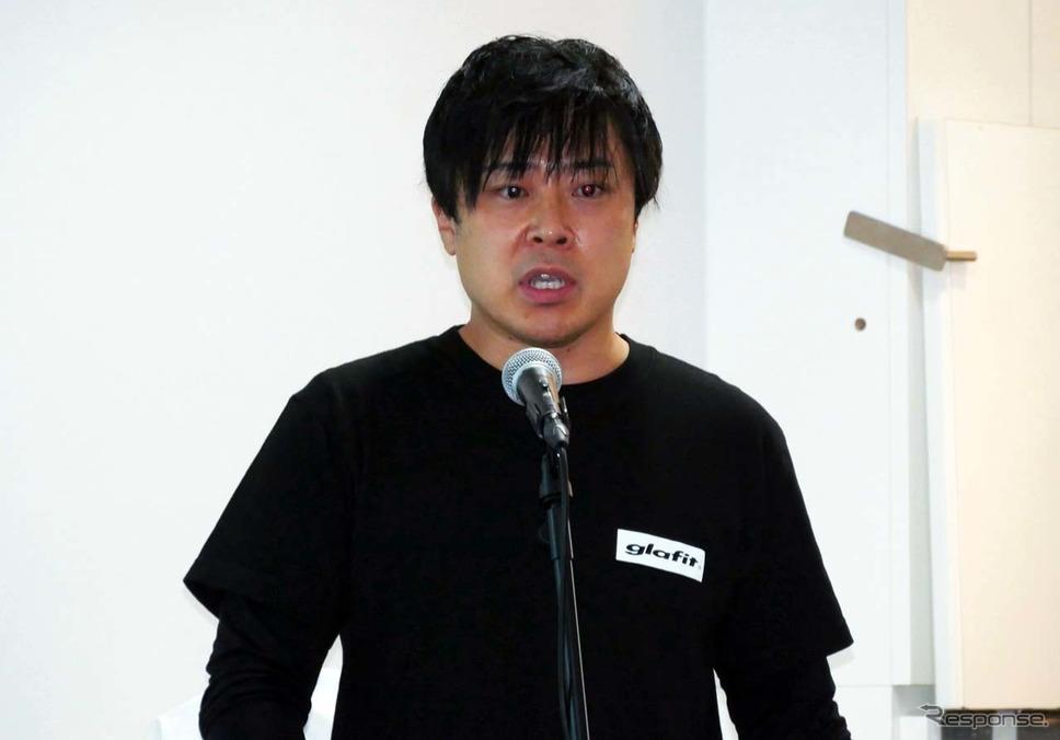 GFR-02を紹介するグラフィットの代表取締役CEOの鳴海禎造氏《写真撮影 会田肇》