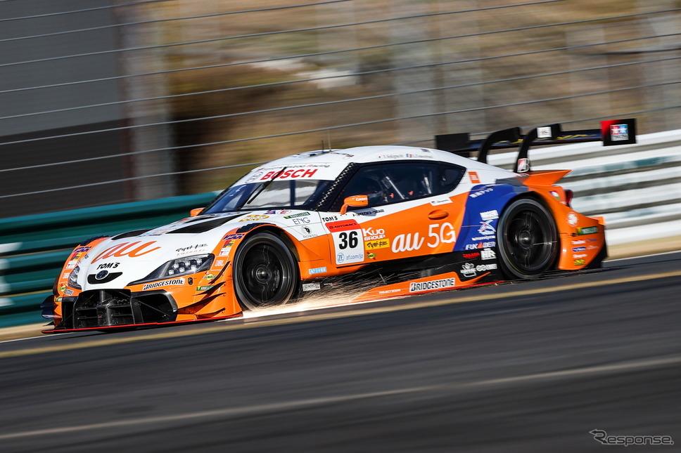 GT500クラス予選3番手の#36 au TOM'S GR Supra《撮影 益田和久》