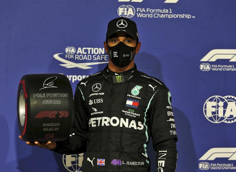 2020年F1王者ルイス・ハミルトン(第15戦バーレーンGP予選)《写真提供 Pirelli》