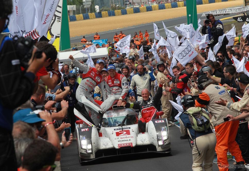 2014年のルマン24時間レースを制した、当時のアウディ2号車(アウディ13回目のルマン総合優勝)。《写真提供 Audi》