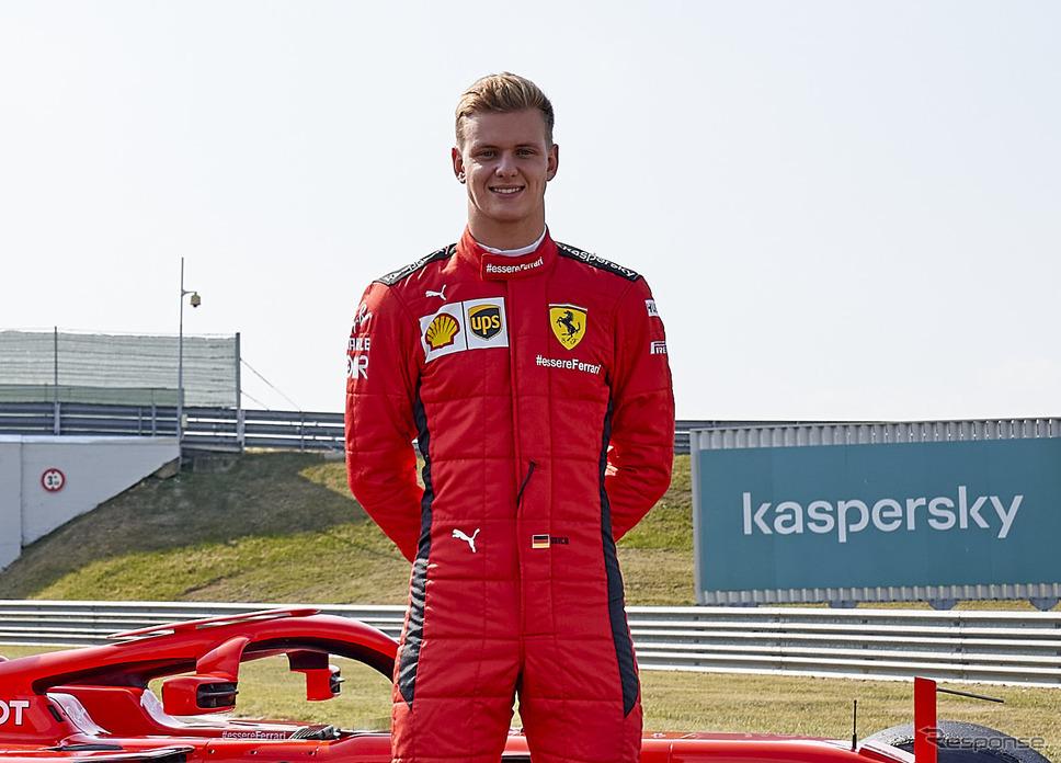 来季2021年、ハースF1チームのレースドライバーになるミック・シューマッハ(写真はフェラーリでのテスト時)。《写真提供 Ferrari》