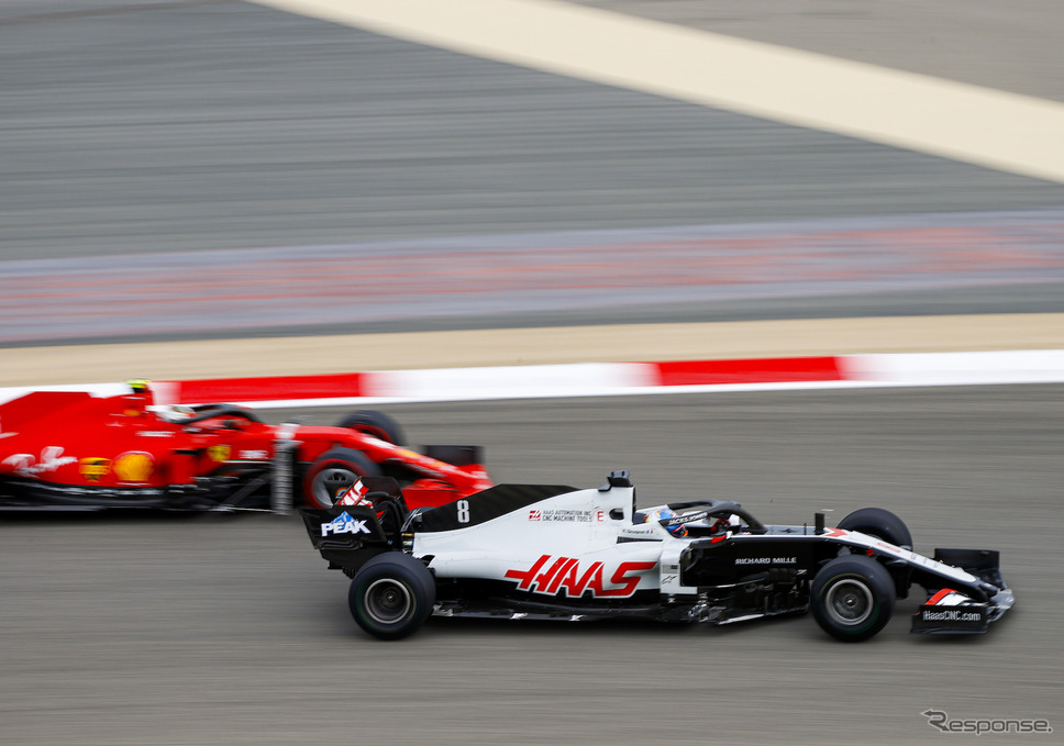 今季2020年のハースF1チーム(#8 R.グロージャン)。《写真提供 Pirelli》