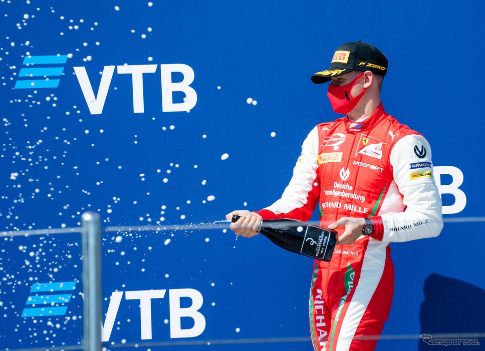 今季F2でのミック・シューマッハ。《写真提供 Ferrari》