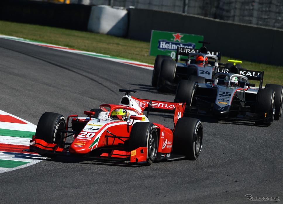 今季F2でのミック・シューマッハ(#20)。《写真提供 Ferrari》