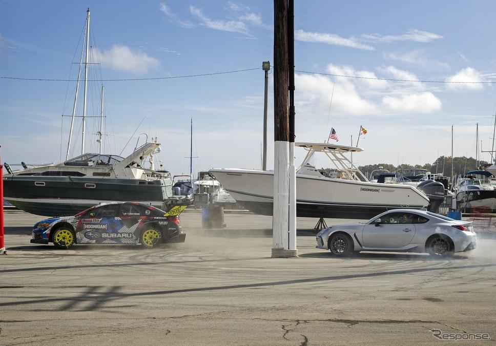 『ジムカーナ2020』に起用されたスバル WRX STI のワンオフモデルと新型 BRZ《photo by SUBARU》