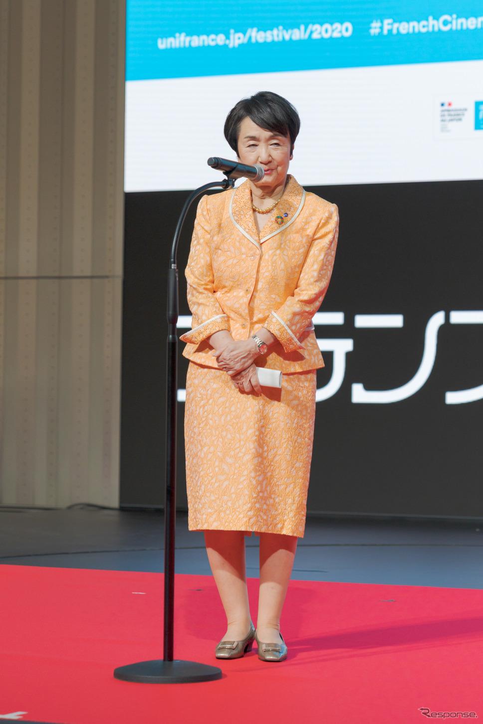横浜市長の林文子氏。《写真撮影 関口敬文》
