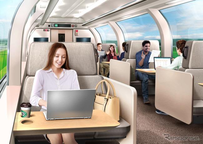 新幹線ワークプレイスイメージ《写真提供 東日本旅客鉄道》