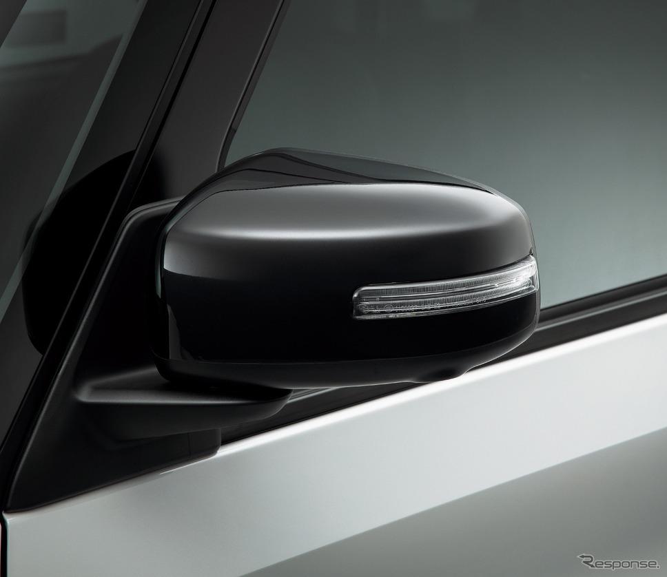 日産 ルークス サイドターンランプ付電動格納式リモコンブラックドアミラー(ドアロック連動自動格納機能付)《写真提供 日産自動車》