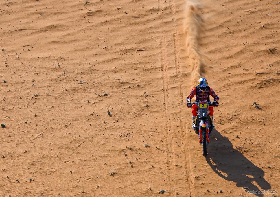 二輪総合で前半戦首位の#3 T.プライス(KTM)。《Photo by Red Bull》