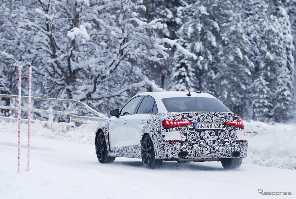 アウディ RS3 セダン 次期型プロトタイプ(スクープ写真)《APOLLO NEWS SERVICE》