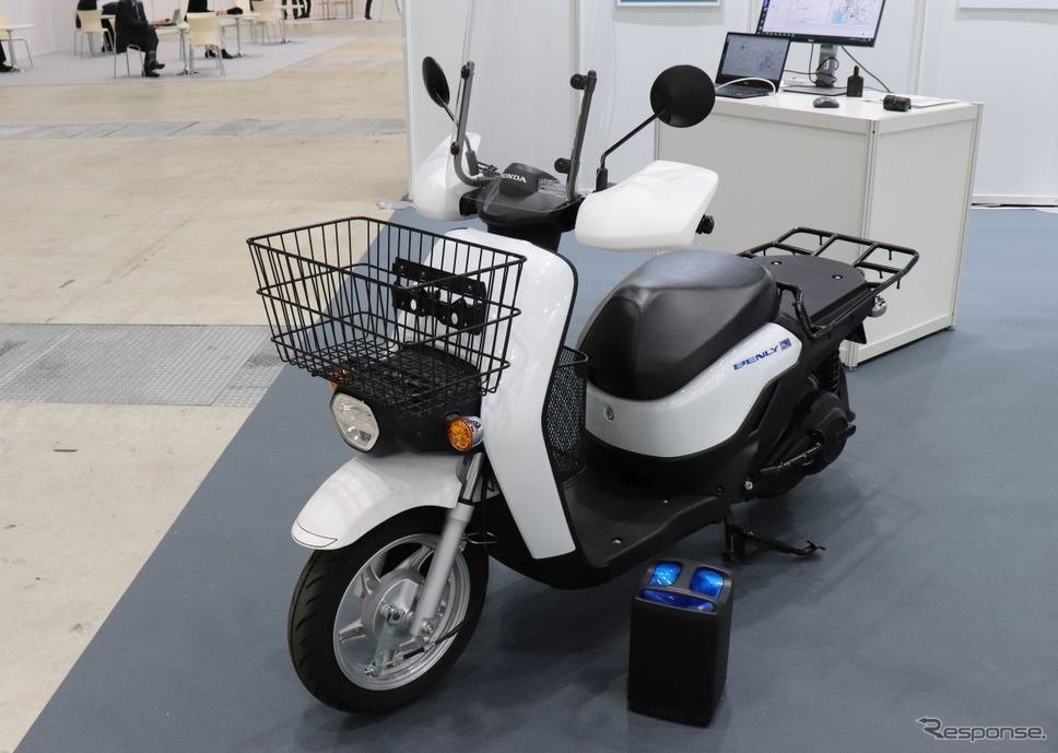 ホンダ・ベンリィの電動バイク《写真撮影 中尾真二》
