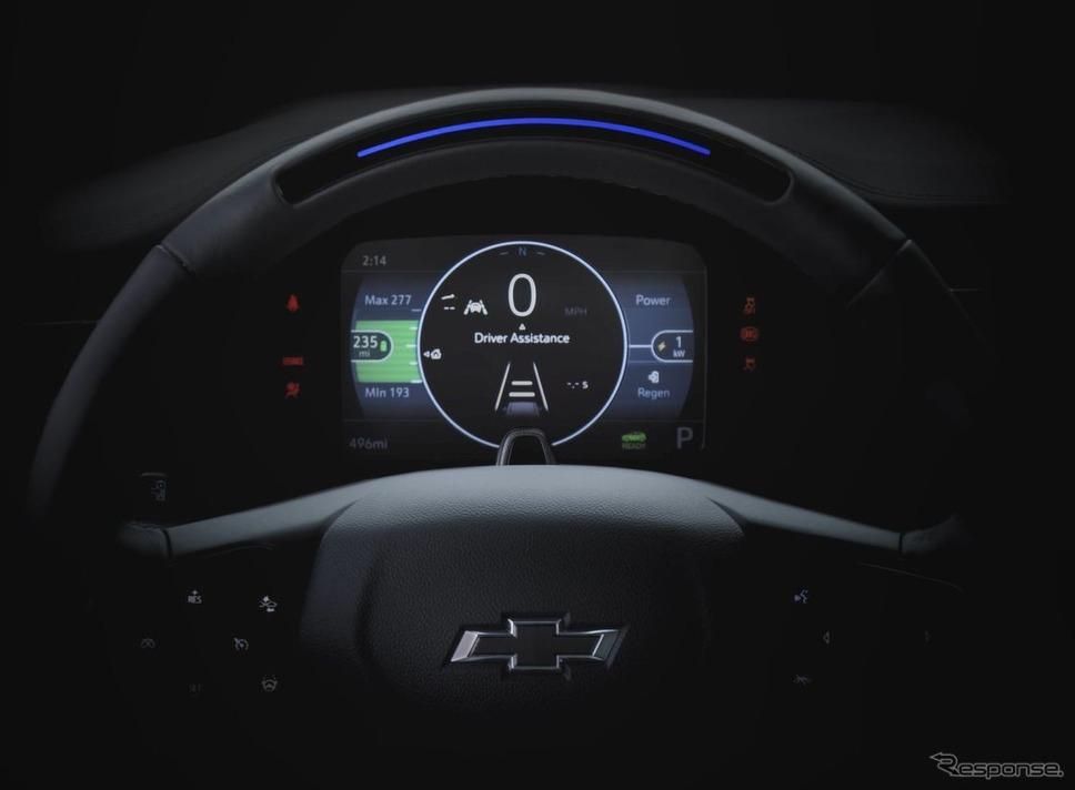 シボレー・ボルト EUV の新開発ステアリングホイール《photo by Chevrolet》