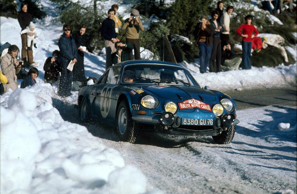 アルピーヌ 1800(1973年のWRCラリーモンテカルロ)《photo by Alpine》