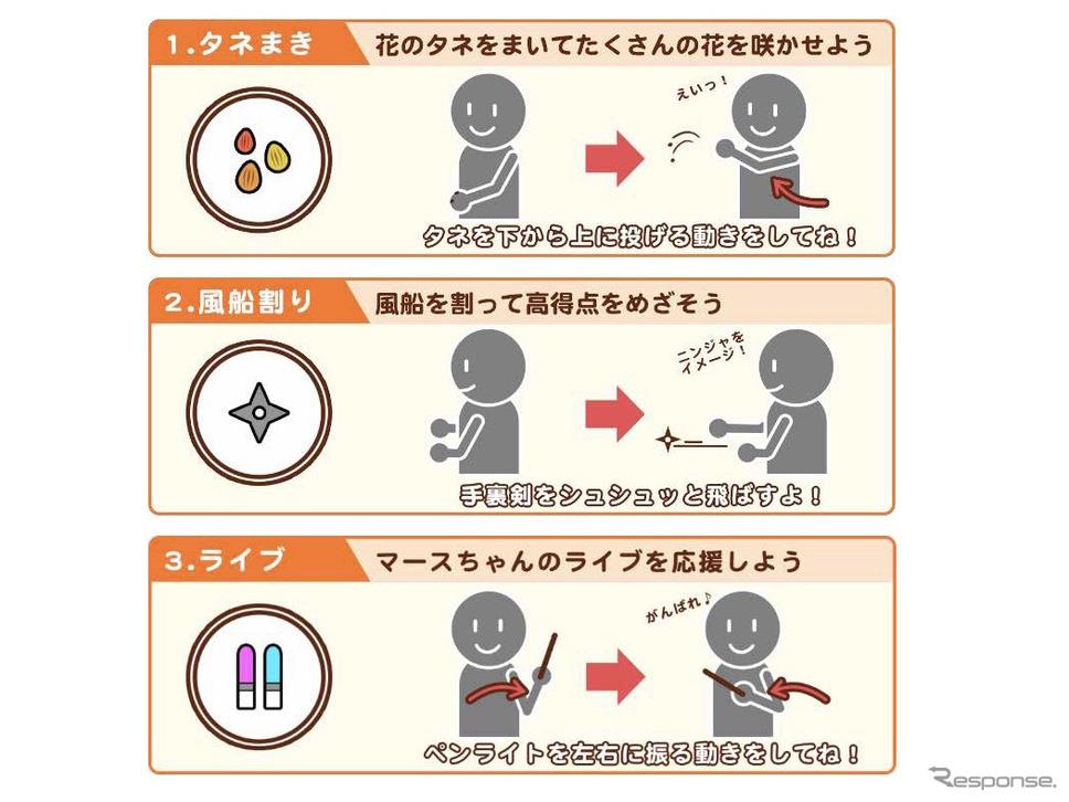 ジェスチャーゲーム《画像提供 NTTドコモ》