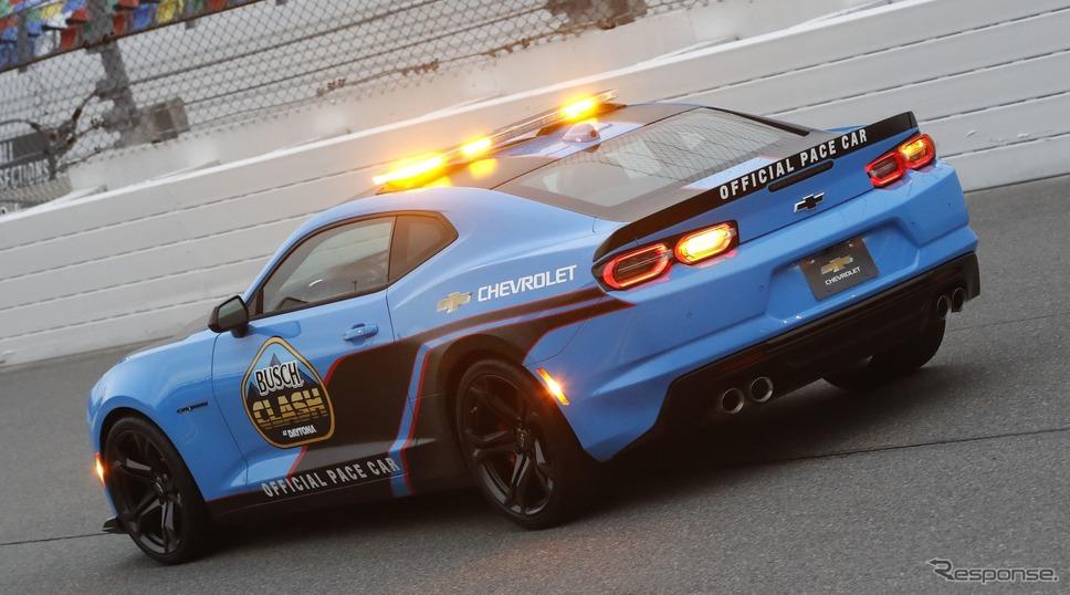 シボレー・カマロ のNASCAR開幕戦のペースカー《photo by Chevrolet)》