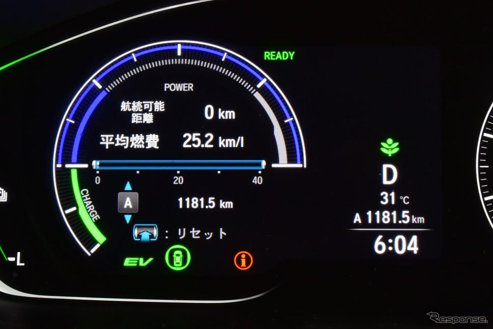 東京を出発後、門司まで1181.5km無給油走行。長距離であれば航続1000kmは安定してキープできそうだった。《写真撮影 井元康一郎》