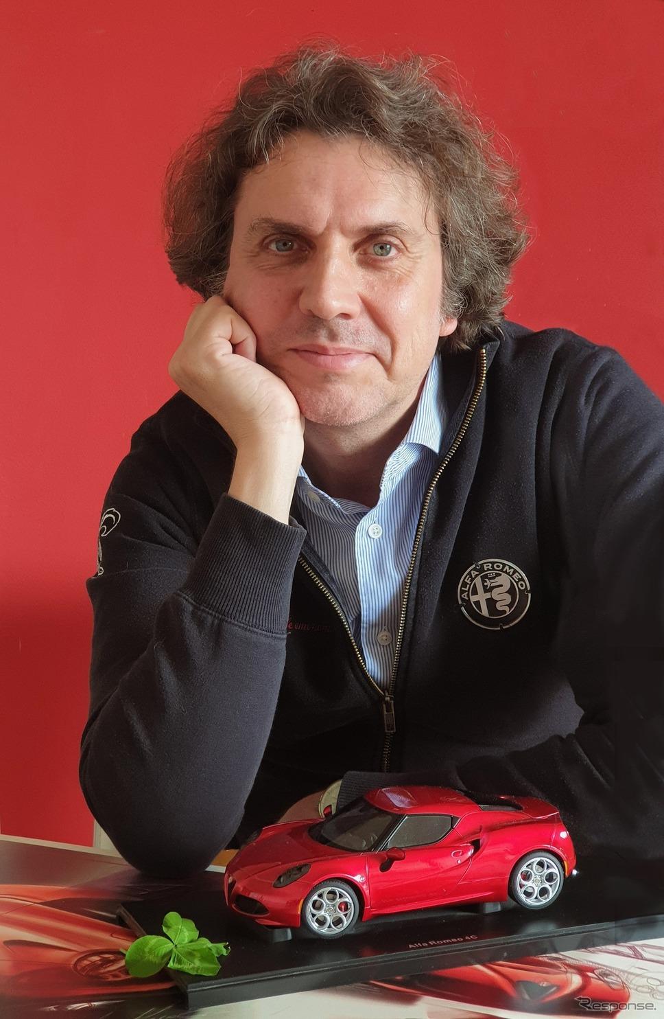 アルファロメオエクステリアデザインのチーフであるアレッサンドロ・マッコリーニ氏《写真提供  アルファロメオ》