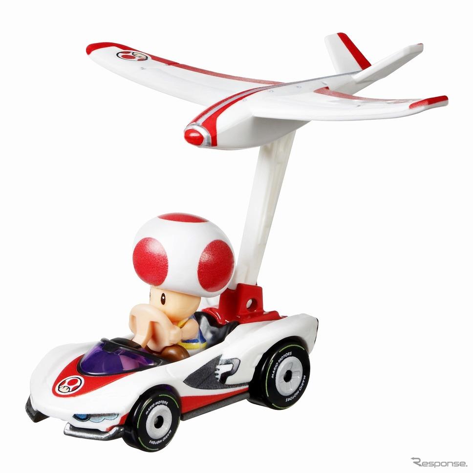 ホットウィール マリオカート グライダーアソート(キノピオ)《写真提供 マテル・インターナショナル》