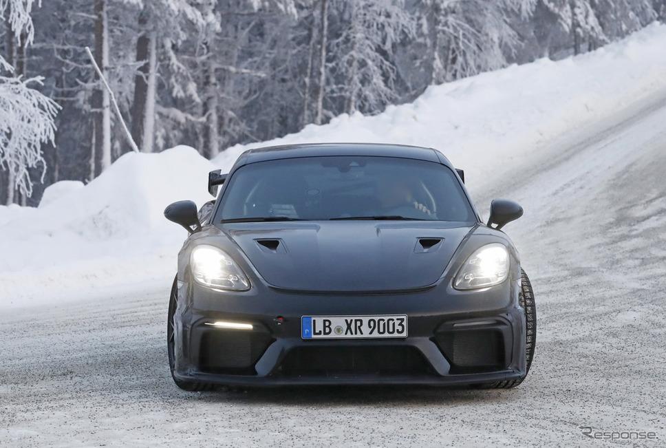 ポルシェ 718ケイマン GT4 RS 市販型プロトタイプ(スクープ写真)《APOLLO NEWS SERVICE》