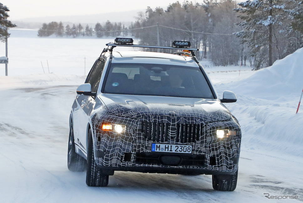 BMW X7 改良新型プロトタイプ(スクープ写真)《APOLLO NEWS SERVICE》