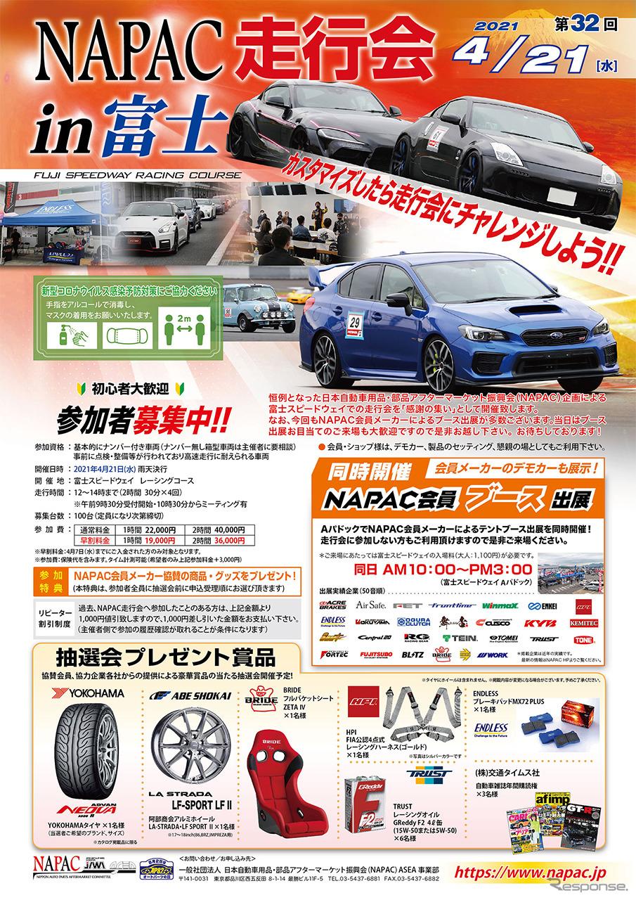 第32回 NAPAC走行会《画像提供 日本自動車用品・部品アフターマーケット振興会》