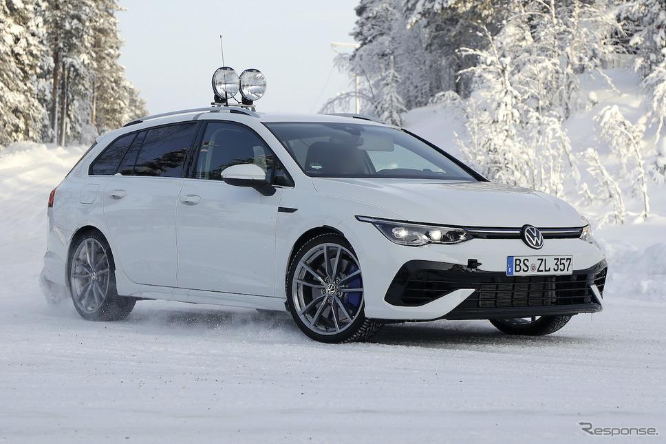 VW ゴルフRヴァリアント 新型プロトタイプ(スクープ写真)《APOLLO NEWS SERVICE》