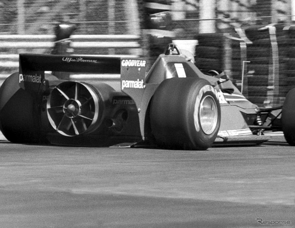 """1978年、F1スウェーデンGPに登場したブラバムBT46B""""ファンカー""""。写真はニキ・ラウダ車。《Photo by Keystone/Hulton Archive/ゲッティイメージズ》"""