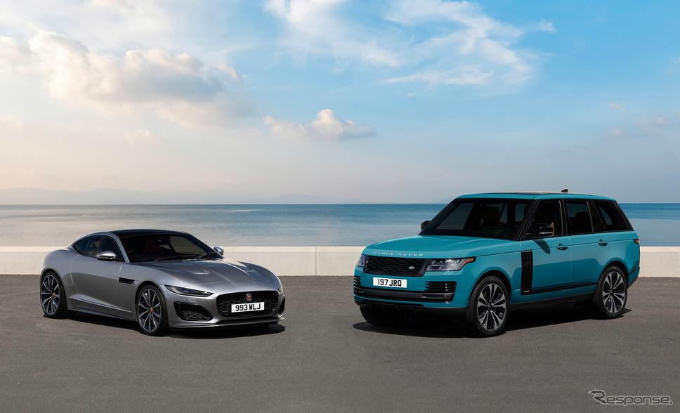 ジャガー Fタイプとレンジローバー《photo by Jaguar Land Rover》