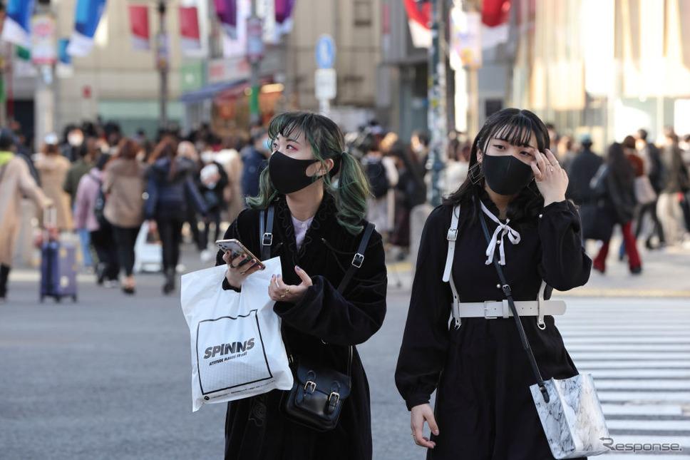 東京・渋谷(3月3日)《Photo by Stanislav Kogiku/SOPA Images/LightRocket via Getty Images/ゲッティイメージズ》