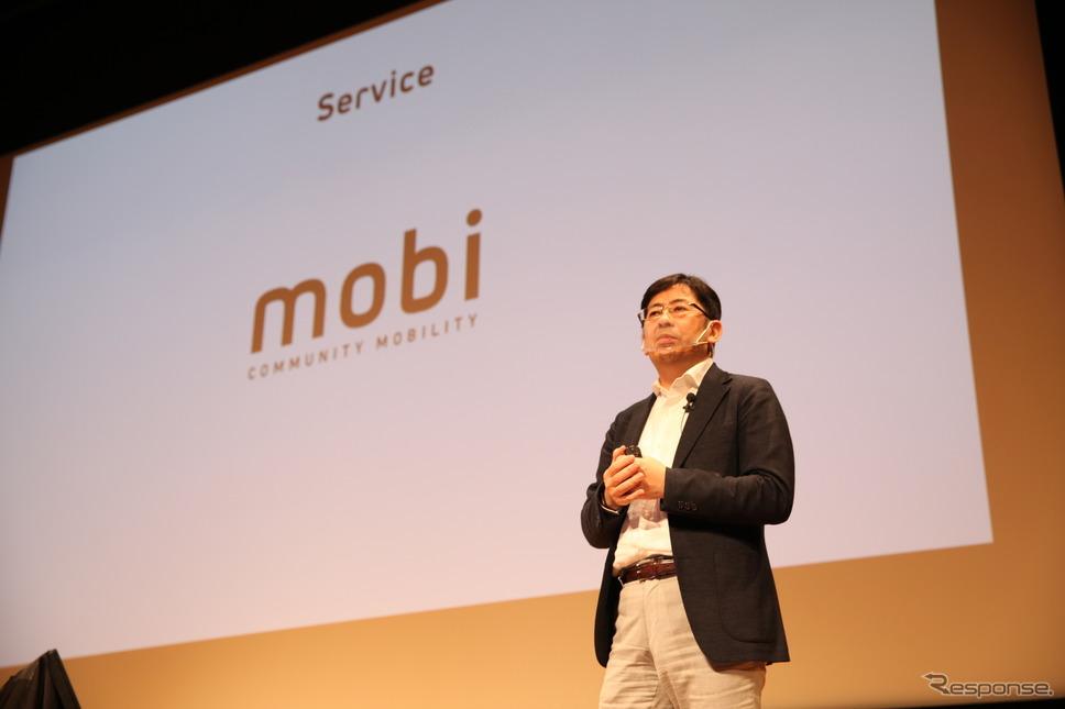 イベントでmobiの構想をプレゼンテーションするウィラーグループ代表の村瀬茂高氏《写真提供 WILLER》