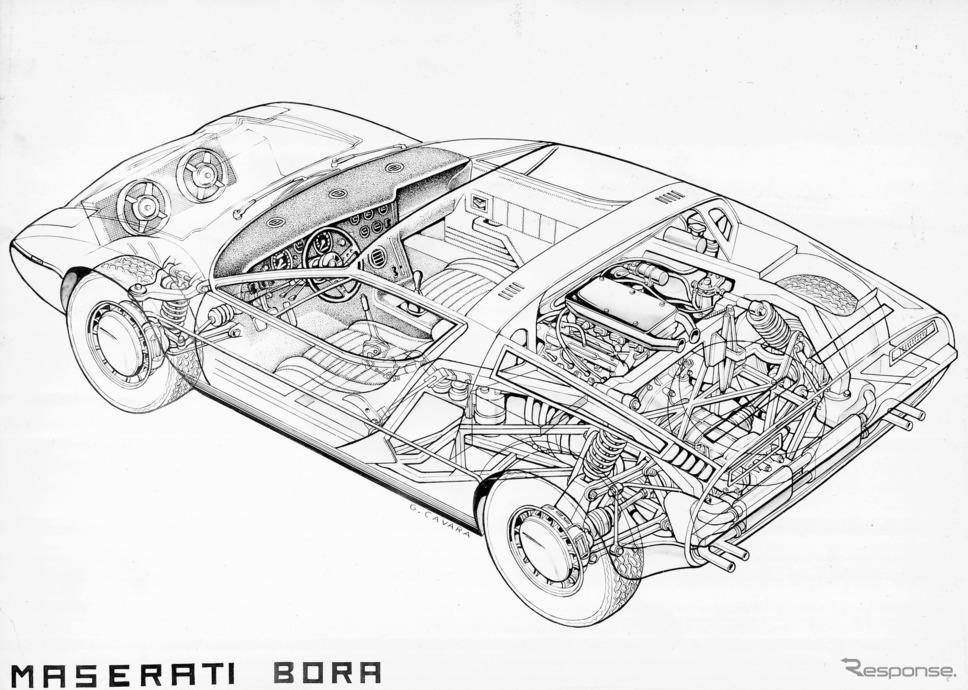 マセラティ・ボーラ《Image by Maserati》