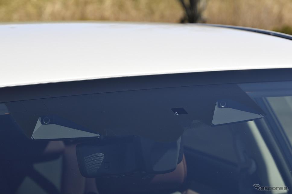 スバル レヴォーグ 新型のステレオカメラ(アイサイトX)《写真撮影 雪岡直樹》