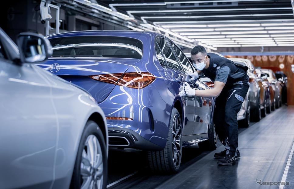 ドイツ・ブレーメン工場で生産が開始されたメルセデスベンツ Cクラス 新型《photo by Mercedes-Benz》