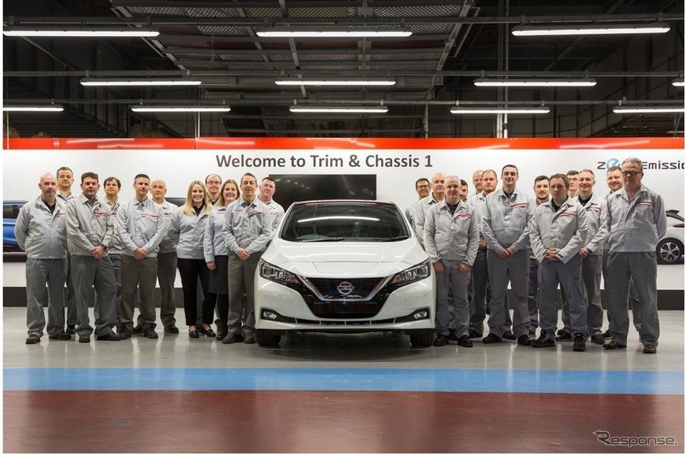 英国サンダーランド工場で生産されている日産 リーフ《photo by Nissan》