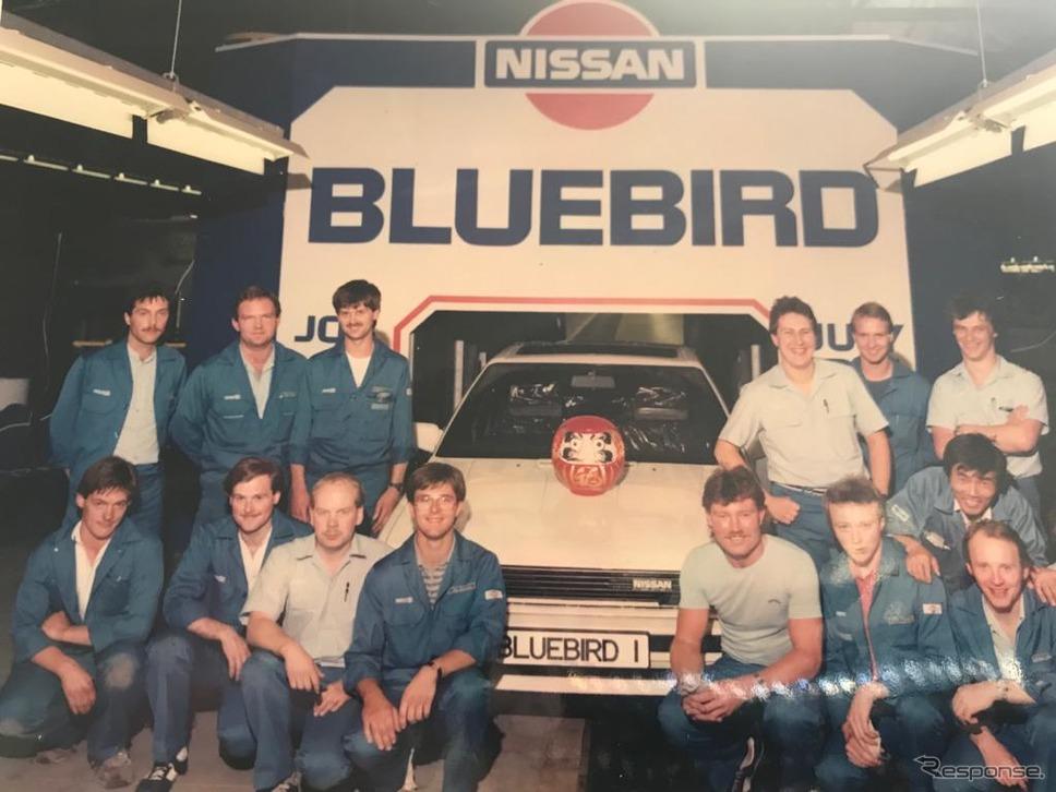 英国サンダーランド工場で1986〜1990年に生産されていた日産 ブルーバード《photo by Nissan》
